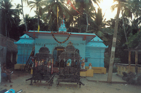 The ancient shrine of Lord Ganga Narayan at Ganga Narayanpur.